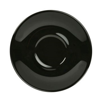 Royal Genware Black Saucer 12cm