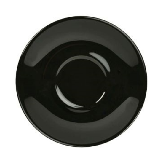 Royal Genware Black Saucer 12cm