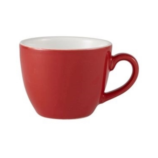 Royal Genware Red Bowl Shaped Cup 3oz