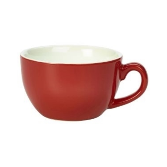 Royal Genware Red Bowl Shaped Cup 8.75oz