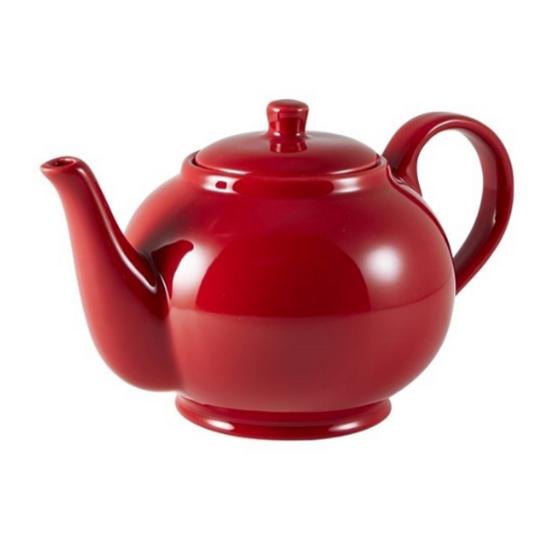 Royal Genware Red Teapot 45cl (15.75oz)