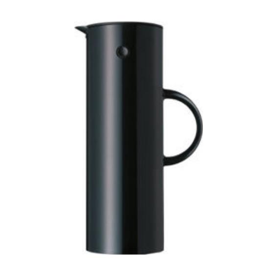Stelton Vacuum Black Jug 1L