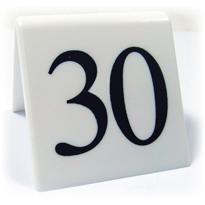 Black On White Table Numbers 11-20