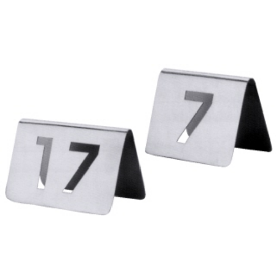 Stainless Steel Cut-Out Table Numbers 13-24