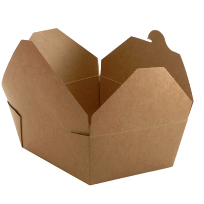 biodegradable brown food packaging closed