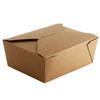 biodegradable brown food packaging closed