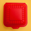 Compostable and biodegradable red burger box