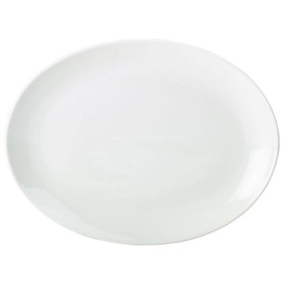 """Apollo Oval White Plate 11"""" (28cm)"""