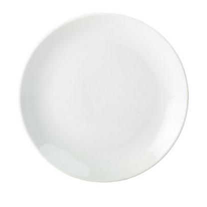 """Apollo White Coupe Plate 10.25"""" (26cm)"""