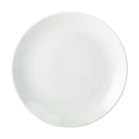 """Apollo White Coupe Plate 7"""" (18cm)"""