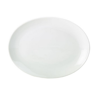 "Apollo Oval White Plate 12.5"" (31cm)"