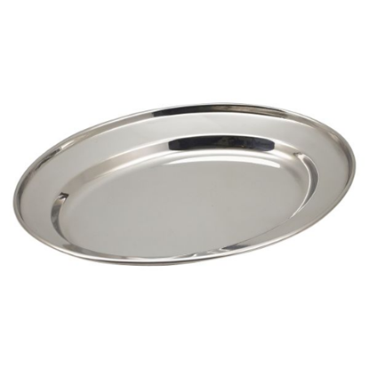 "Stainless Steel Oval Flat 10"" (25cm)"
