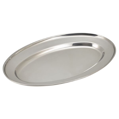 """Stainless Steel Oval Meat Flats 14"""" (35cm)"""