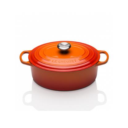 """Le Creuset Volcanic Oval Casserole Dish 11.4""""(29cm) 4.7L"""