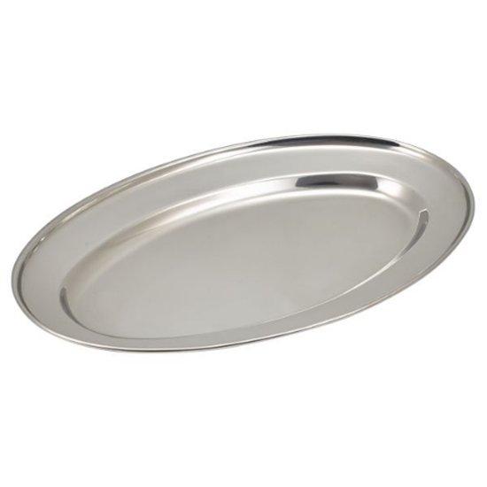 """Stainless Steel Oval Meat Flats 16"""" (40cm)"""