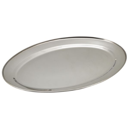 """Stainless Steel Oval Flat 20"""" (51cm)"""