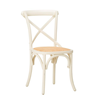 Gem Side Chair (Beech) Distressed Cream / Natural Hessian
