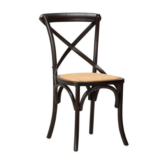 Gem Side Chair (Beech) Walnut / Natural Hessian