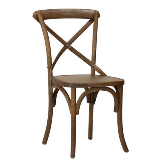 Gem Side Chair (Oak) Burned Walnut / Walnut Veneer
