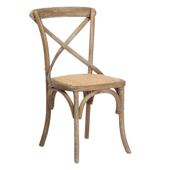 Gem Side Chair (Oak) Natural Oak / Natural Hessian