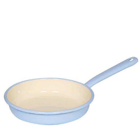 """Blue & Cream Enamel Omelette Pan 7.75"""" (20cm)"""