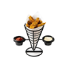 """Picture of Appetizer Cone With Double Ramekin Holder 5x9"""" (12.7x22.9cm)"""
