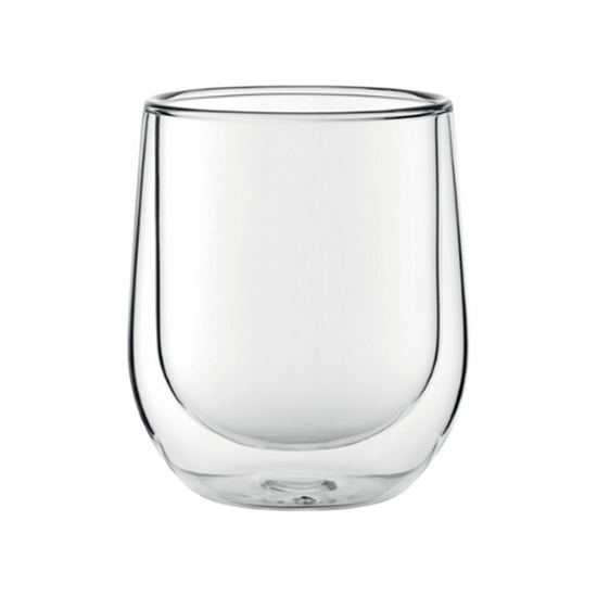 double walled latte glass