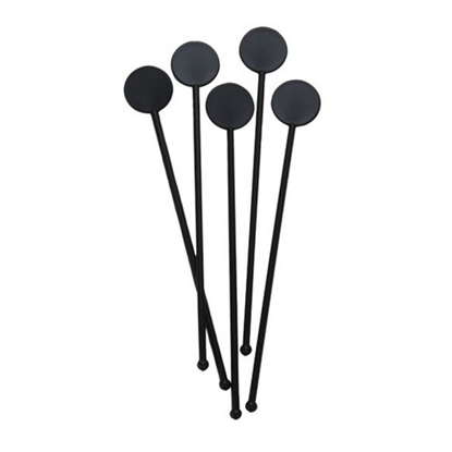 "Disc Stirrer Black 6"" (15cm)"