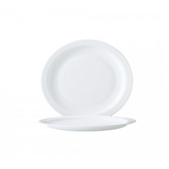 """Arcopal White Plate 9.25"""" (23.5cm)"""