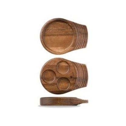 "Art De Cuisine Small Single Handled Wooden Tray 7"" (17.75cm)"