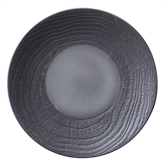 """Black Arborescence Round Bread Plate 6.3"""" (16cm)"""