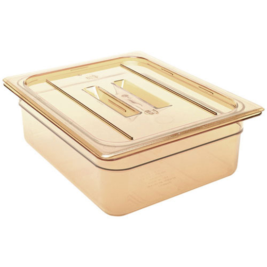High Heat Amber Gastronorm Food Pan 1/1x15cm
