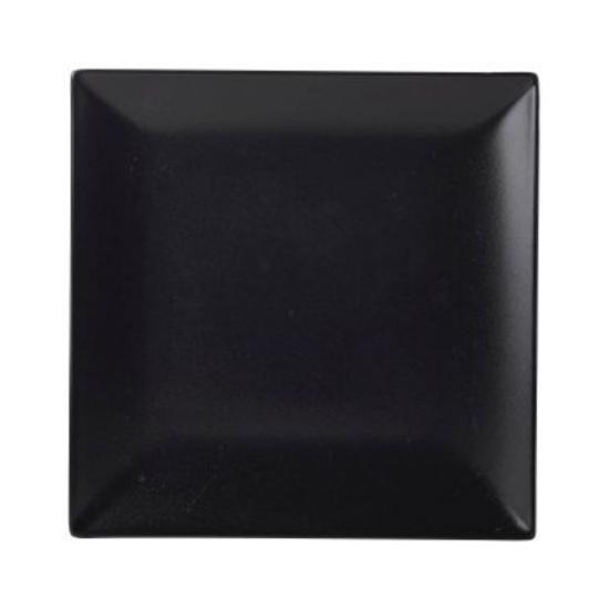 """Luna Square Coupe Plate Black Stoneware 10.2"""" (26cm)"""