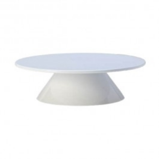 "Melamine White Pedestal For Round Top 3"" (7.6cm)"