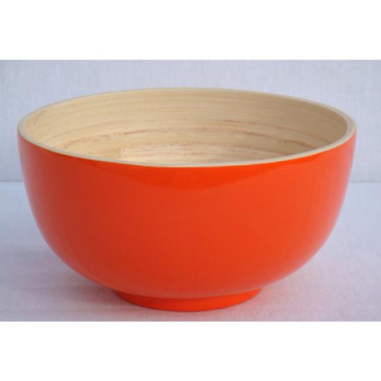 "Orange Bamboo Bowl 9.4"" (24cm)"