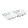 """Porcelain Burger Box 12.5 """"X 5.5"""" (31.5 X 14cm)"""