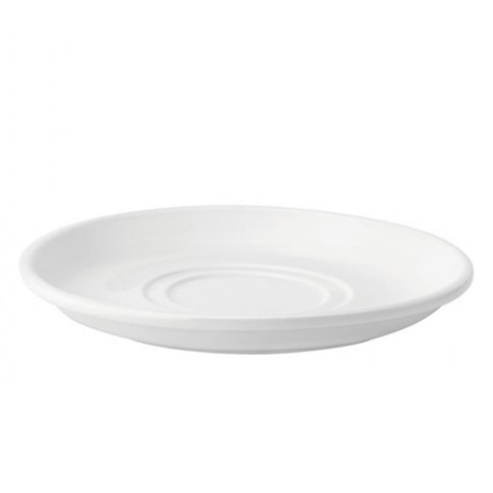 "Pure White Double Well Saucer 7"" (17.8cm)"
