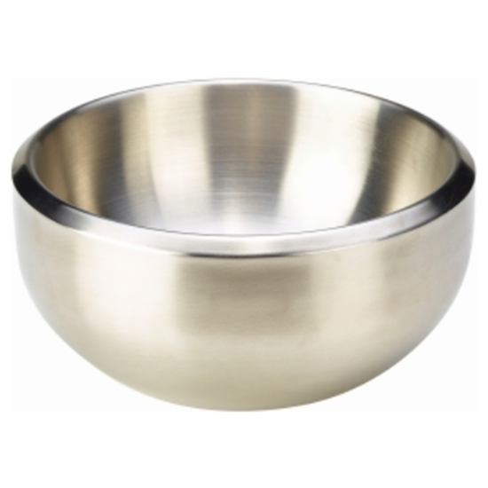Stainless Steel Dual Angle Bowl 243cl (82.4oz)