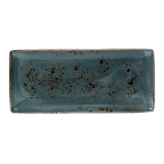 Steelite Craft Blue Rectangle Four 37 X 16.5cm