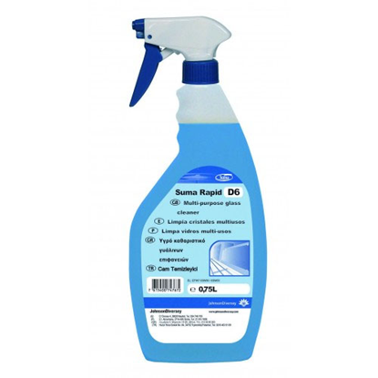 Diversey Suma Rapid D6-Non Fragrant Glass Cleaner 75cl