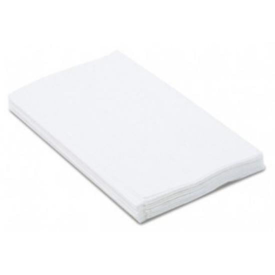 "Duni 3 Ply White 8 Fold Napkin 16"" (40cm)"