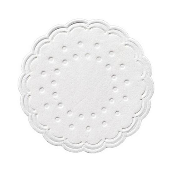"""Duni White 8 Ply Coaster 3"""" (7.5cm)"""