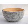 "Eggshell Grey Bamboo Bowl 9.5"" (24cm)"