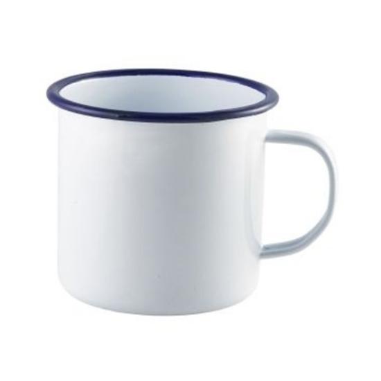 Enamel Mug With Blue Rim 56.8cl (20oz)