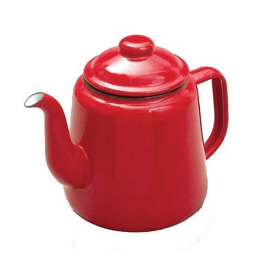 Enamel Red Teapot