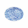 """Enamel Splatterware Blue Oval Platter 18"""" (45.7cm)"""