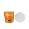 Enjoy Hot & Cold Food Container & Plastic Lid 35.5cl (12oz)