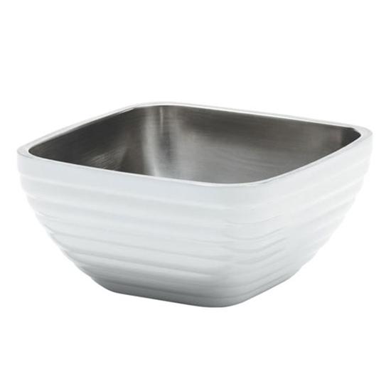Square Pearl White Large Serving Bowl 4.9L