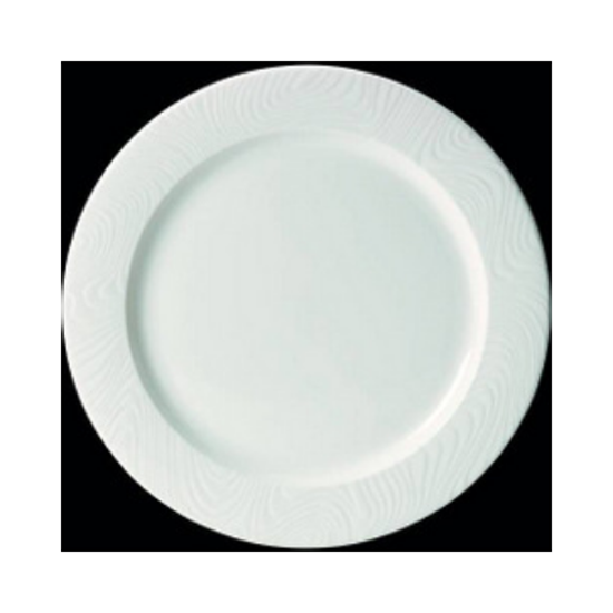 "Steelite Optik Flat Rim Plate 12"" (30.5cm)"