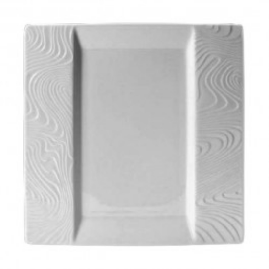 "Steelite Optik White Square Plate 10"" (25.5cm)"